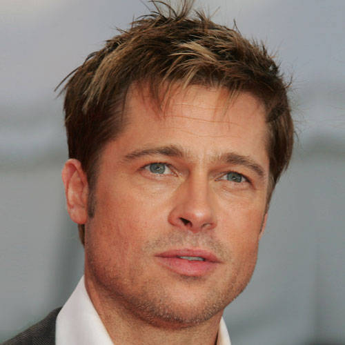 Brad Pitt Short Haircut and Hairstyle 2016 Pictures
