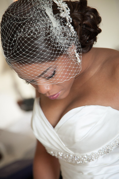 African American Wedding Hairstyles 2017 With Birdcage Veil006