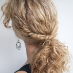 Quick Hairstyles For Curly Hair For School 01