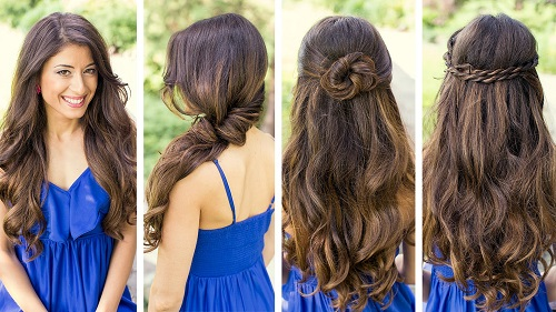 Hairstyles For Curly Frizzy Hair For School