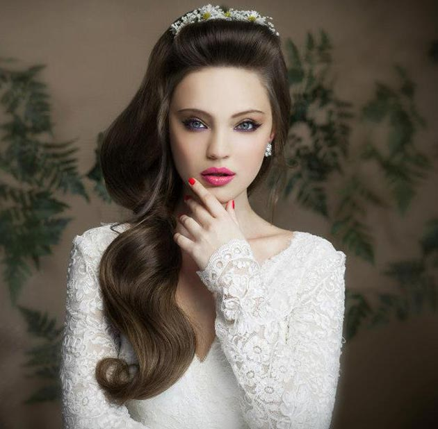 Side Wedding Hairstyles: Side Swept Wedding Hairstyles For Long Hair
