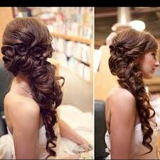 Side Swept Wedding Hairstyles For Long Hair