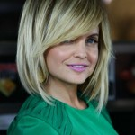 Celebrity Side Bangs Hairstyles 2018 With Round Face