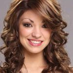 Curly Medium Hairstyles With Bangs 2020
