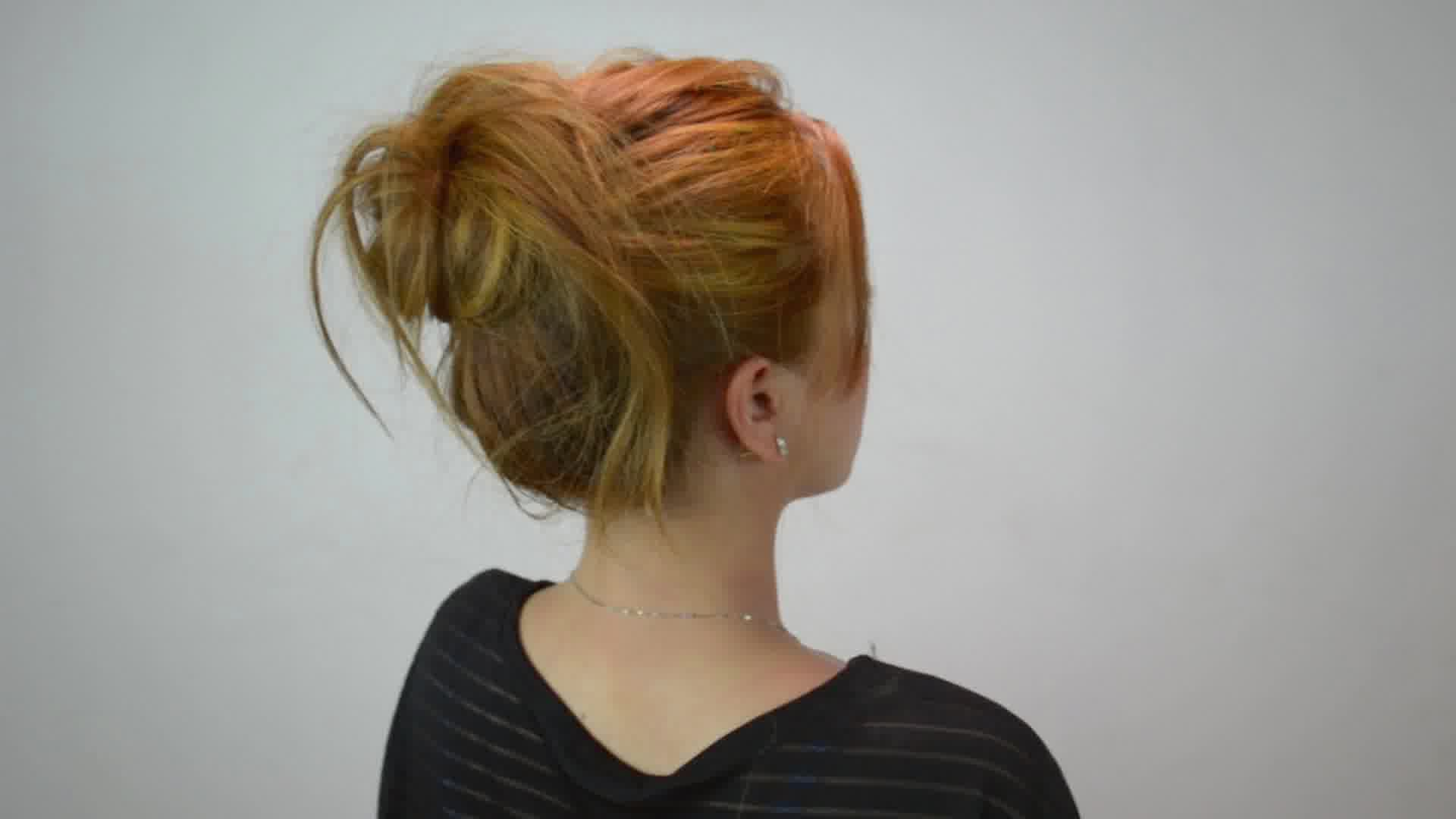 Cute Easy Messy Buns For Long Medium Hair006
