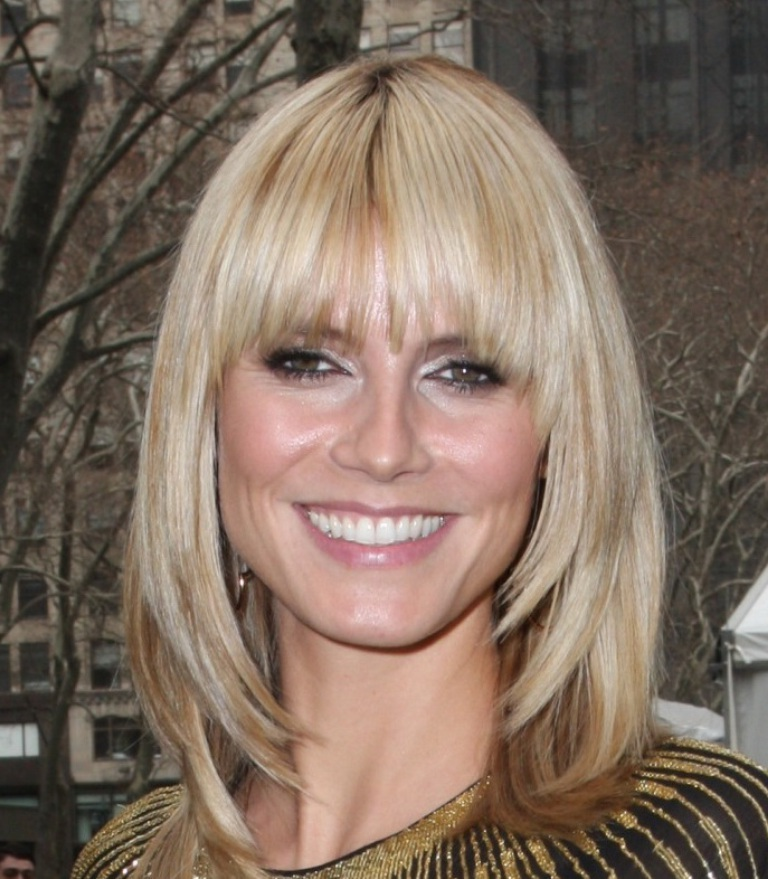 Medium Length Hairstyles With Fringe For Fine Hair