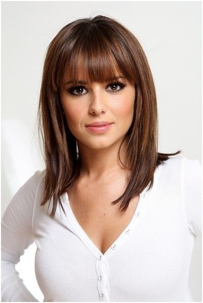 Short To Medium Length Layered Hairstyles With Bangs