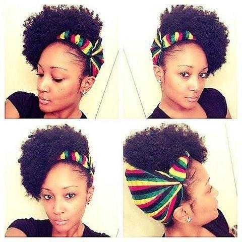 TWA Hairstyles With Scarf995