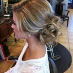sweet prom updo hairstyle with curls 2017
