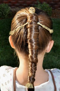 Easy Halloween hairstyles for kids 1
