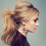 High Ponytail Hairstyles With Side Bangs
