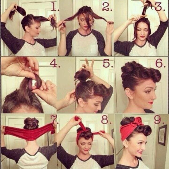 50s pin up hairstyles for long hair, short hair, medium hair 2