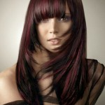 Pictures Of Dark Brown Hair With Burgundy Highlights 0