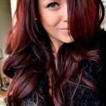 Pictures Of Dark Brown Hair With Burgundy Highlights