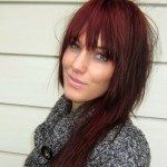 Pictures Of Dark Brown Hair With Burgundy Highlights 2