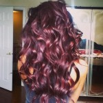 Pictures Of Dark Brown Hair With Burgundy Highlights 3