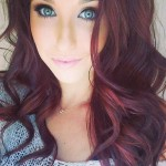 Pictures Of Dark Brown Hair With Burgundy Highlights 7