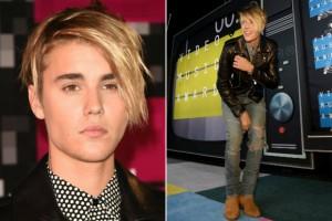 justin bieber new haircut 2015 in MTV VMAs red carpet 2