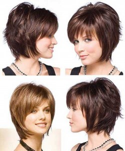 Short Stacked Bob Hairstyles With Bangs 0