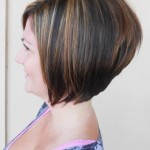 Short Stacked Bob Hairstyles With Bangs 04