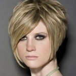 Short Stacked Bob Hairstyles With Bangs 3