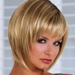 Short Stacked Bob Hairstyles With Bangs 6