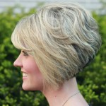 Short Stacked Bob Hairstyles With Bangs 8