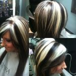 chunky blonde highlights on dark hair pictures 02