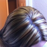 chunky blonde highlights on dark hair pictures 03