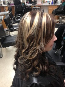 chunky blonde highlights on dark hair pictures 05