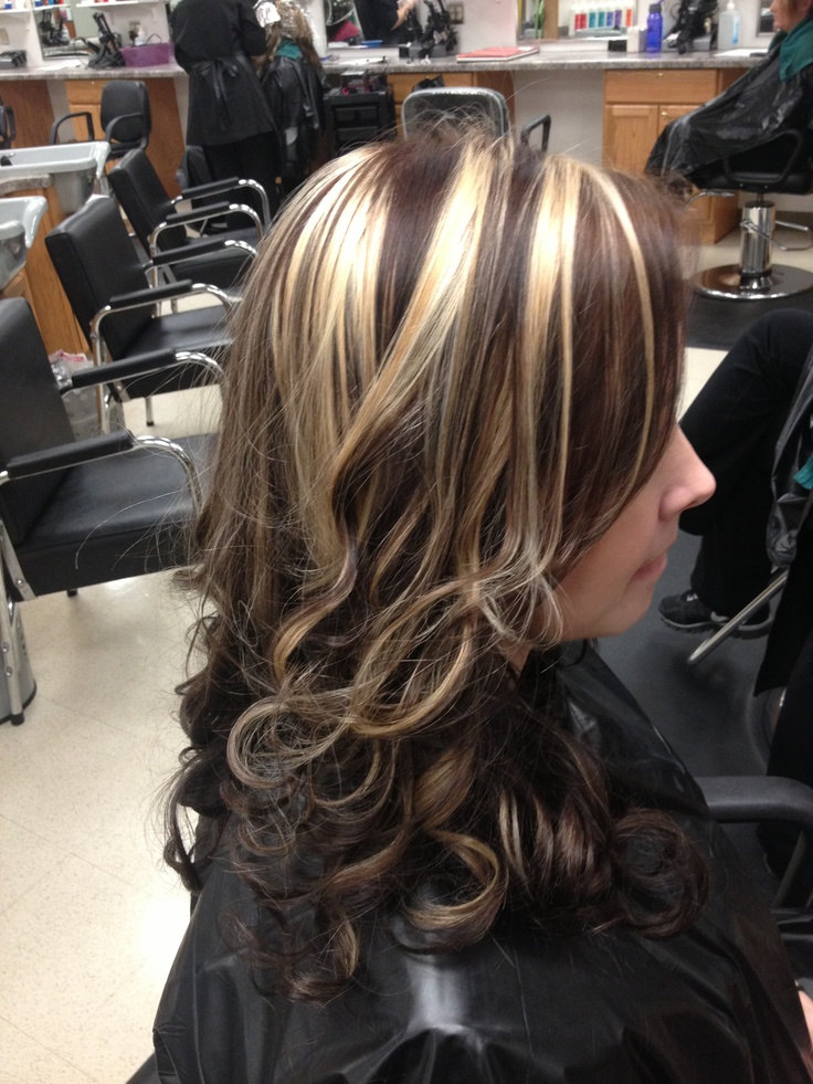 Chunky Blonde Highlights On Dark Hair Pictures Attached