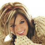 chunky blonde highlights on dark hair pictures 3