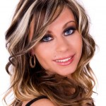 chunky blonde highlights on dark hair pictures 4
