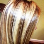 chunky blonde highlights on dark hair pictures 7