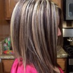 chunky blonde highlights on dark hair pictures 9