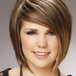 short haircuts with side bangs for round faces 2