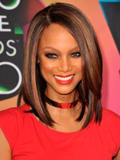 African American Red hair color highlights for black hair