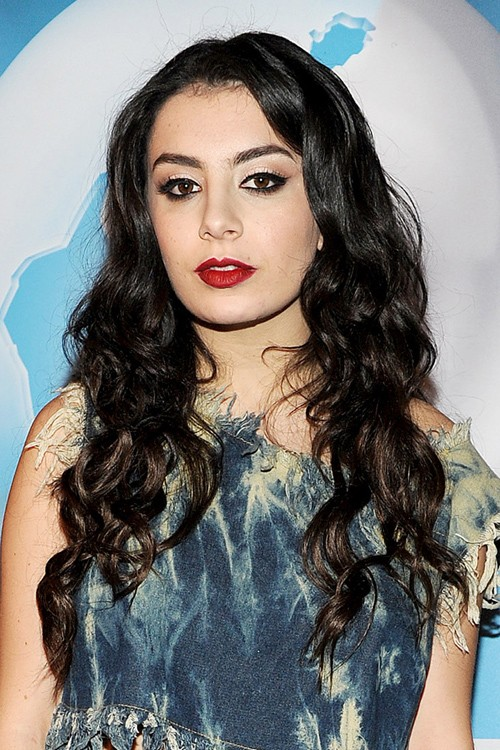 Charli Xcx long layered hairstyle