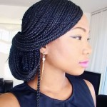 Ghana Weaving Styles For Round Face Pictures 02