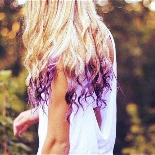 Purple Underneath hair color pattern