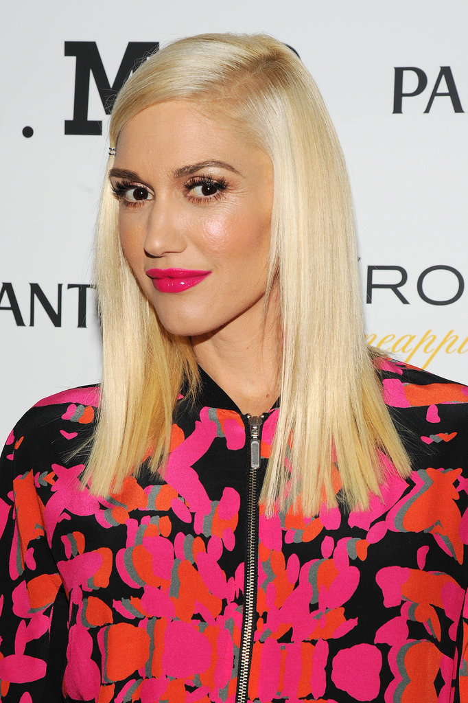 Gwen Stefani Hairline with Silky Long Hairstyle