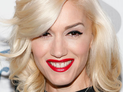 Gwen Stefani Side Bangs Haircut