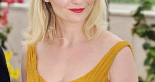 Kirsten Dunst Side Swept Blonde Hairstyle
