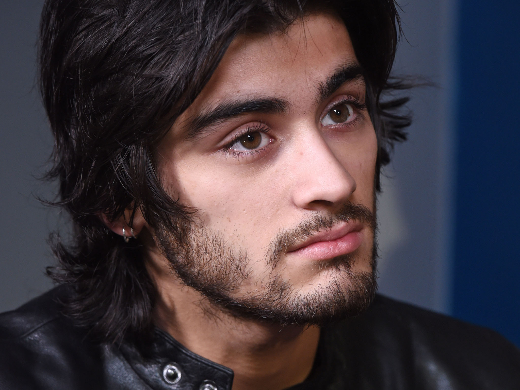 Zayn Malik layered hairstyle with Hairline