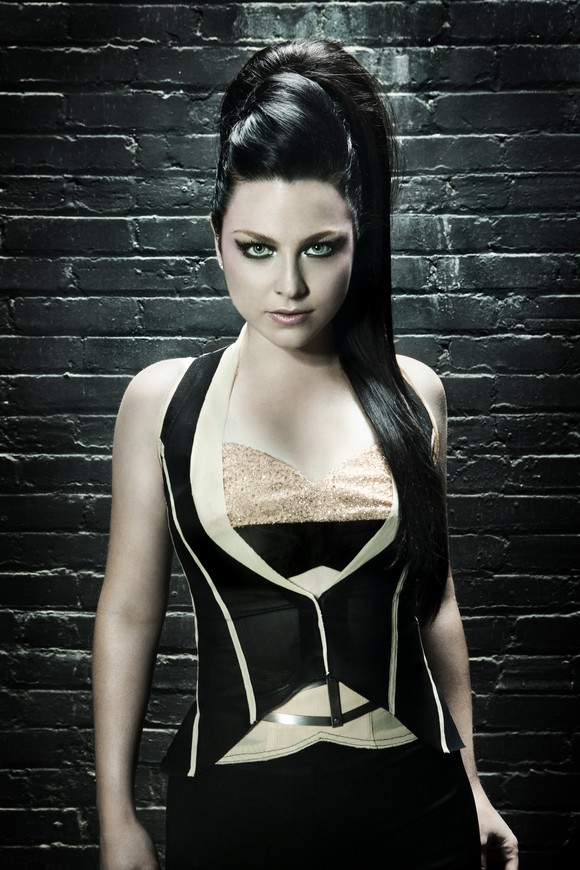 amy lee long high ponytail