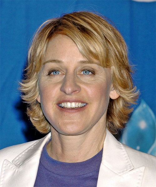 Ellen Degeneres short hair