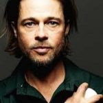 Brad Pitt Long Hairstyle With Beard Photos