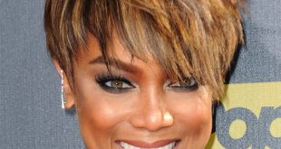 Tyra Banks Short, Updo, Weave, Bun Hairstyles Pictures