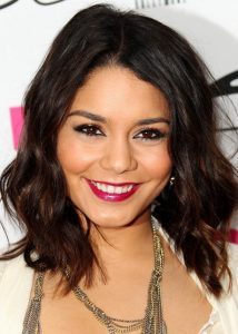 Vanessa Hudgens Short, Messy, Medium, Straight Hairstyles Pictures