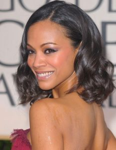 Zoe Saldana New, Updo, Bob, Long Hairstyles Pictures